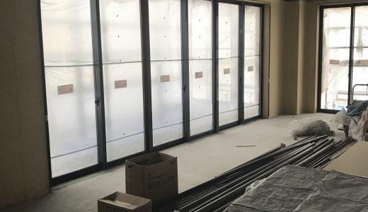 工事進捗状況(エレベーター取り付け中)